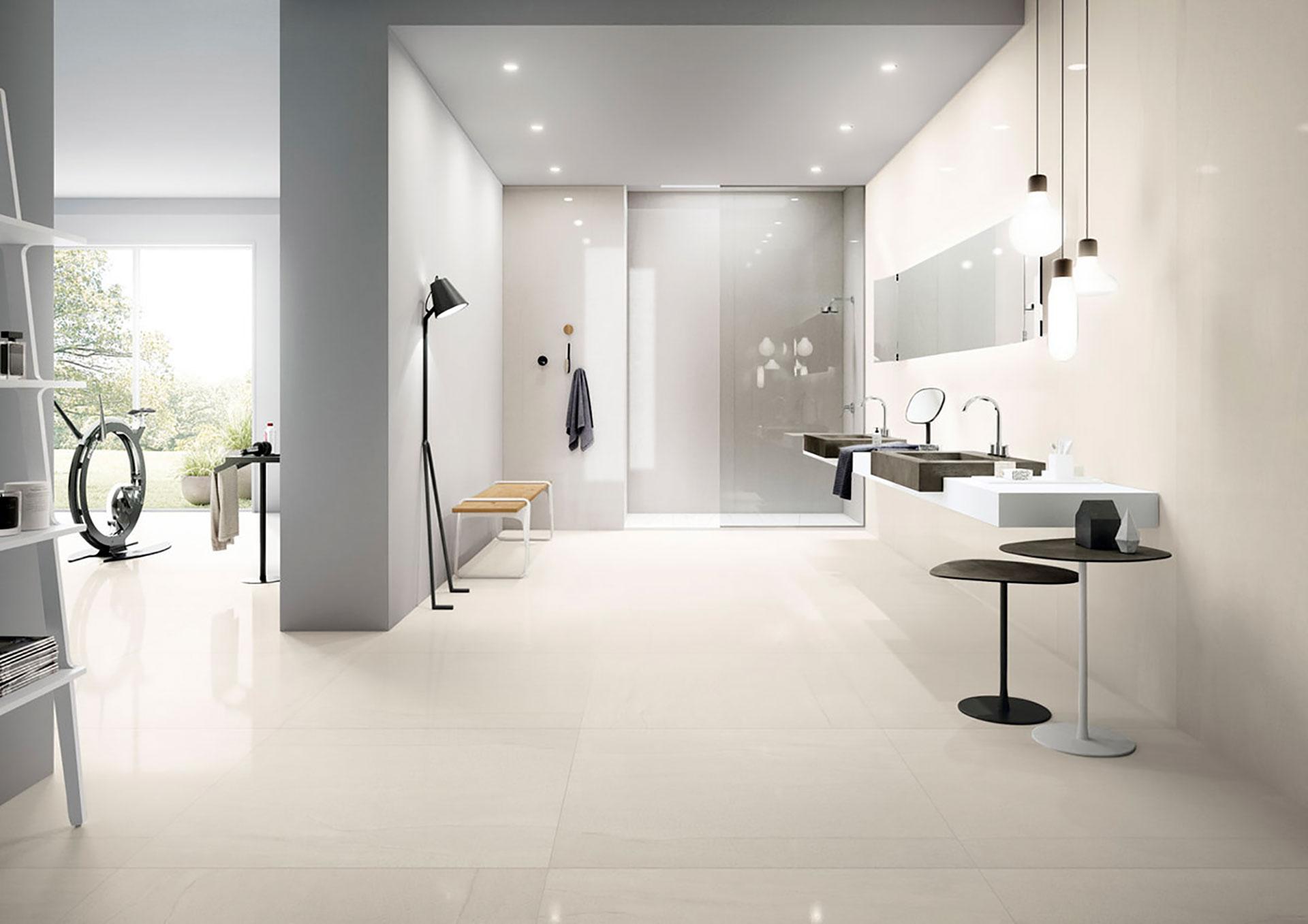 Arredo Bagno Resina effetto marmo pietra resina e cemento: le proposte ceramiche