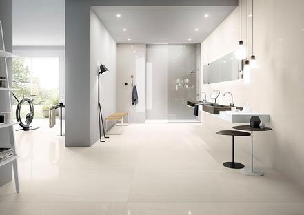 Effetto marmo, pietra, resina e cemento: le proposte ceramiche Fiandre e Aqua Maximum