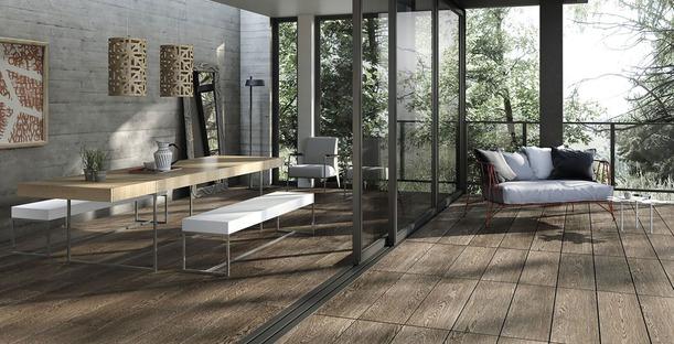 Rivestimenti Porcelaingres per l'outdoor: effetto pietra, cemento e legno