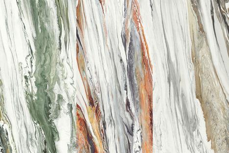 Bellezza d'insieme e fascino del dettaglio: superfici Liquid Cosmo e Cosmic Marble