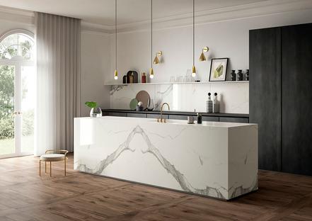 Resistenti, igienici e inalterabili: top SapienStone Calacatta, protagonisti in cucina