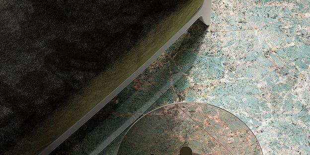 Grandi lastre ceramiche Fiandre: il fascino del verde acqua Amazonite