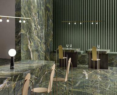 Superfici ceramiche Fiandre: pavimenti, rivestimenti e arredi su misura effetto marmo