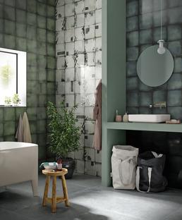 Le scenografie degli ambienti quotidiani: creatività e libertà di posa con rivestimenti Iris Ceramica
