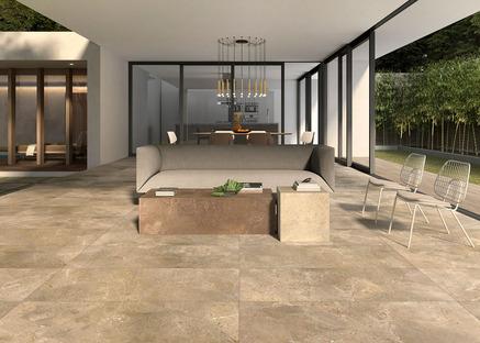 Naturali ed eleganti: le collezioni per esterni Porcelaingres in pietra, cemento e legno