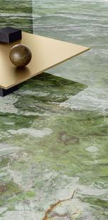 Il verde, colore di tendenza per rivestimenti ed arredi: il fascino dei marmi Fiandre