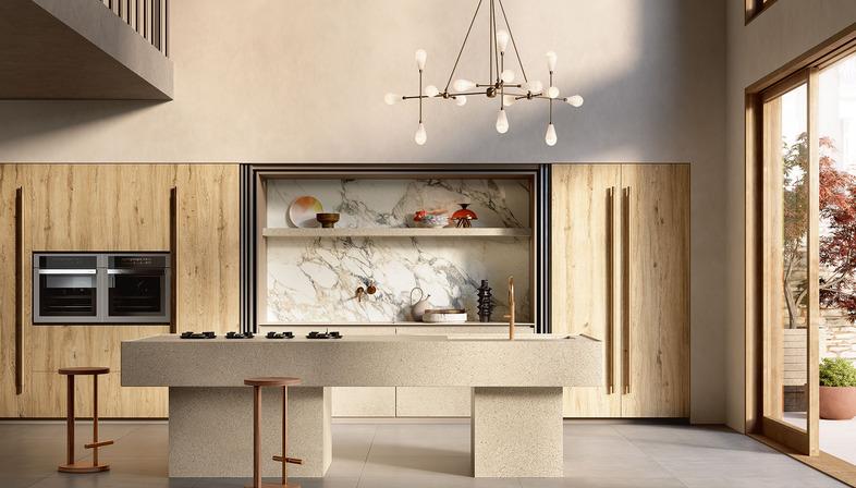 Il Veneziano: nuove superfici per la cucina Sapienstone