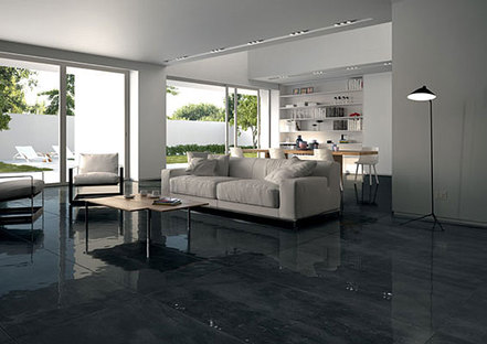 Sala con Class Ebony Extreme, GranitiFiandre