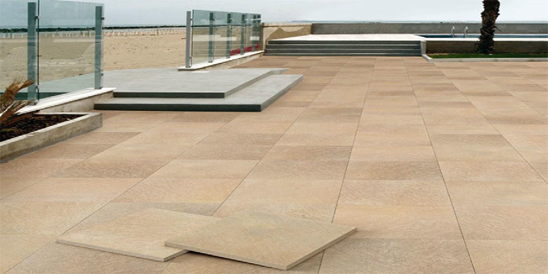 Pavimenti per esterni in gres effetto pietra floornature for Piastrelle sottili