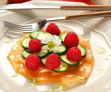 Un'idea estiva: Insalata di zucchine e melone cantalupo