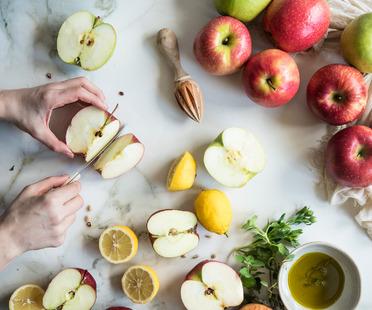 """Quiche al parmigiano con mele e speck - ricetta di """"Fotogrammi di zucchero"""""""