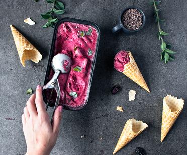 <strong>Sorbetto vegano alla mora &ndash; ricetta di Freiknuspern</strong><br />