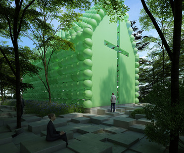 Green chapel in plastica