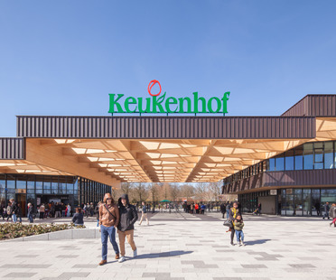 Struttura di legno per la nuova gatehouse del Keukenhof Garden - Mecanoo Architecten