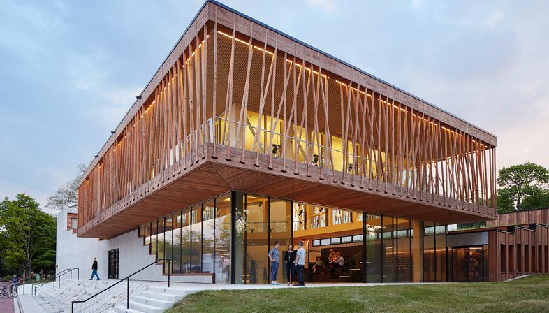 Tensostruttura in legno per il Writers theatre di Studio Gang