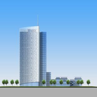 Torre Air China con rivestimento in alluminio, un'opera di AREP e IPPR