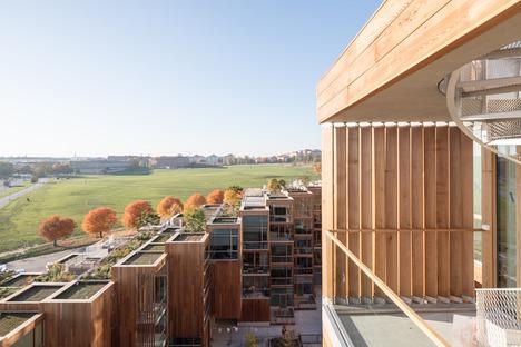 Appartamenti rivestiti in legno di cedro a Gärdet-Stoccolma per il 79&Parck di BIG