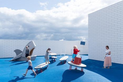 Lego House di BIG è in cemento e acciaio