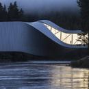 Il Twist museum di Big, acciaio, legno dipinto e alluminio.