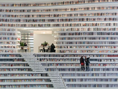 Sfera in policarbonato per la Biblioteca Binhai di MVRDV