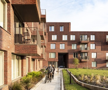 Case residenziali in mattoni di Mecanoo a Manchester
