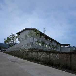 Fabbrica in cemento di TAO, per zattere di bamboo