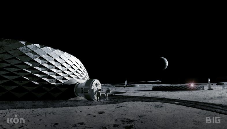 Edifici stampabili in 3d per abitare la luna di BIG, ICON e SEArch+
