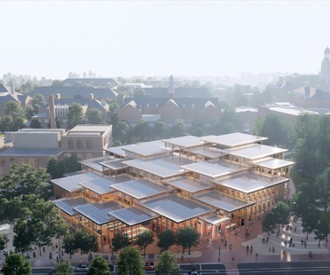 Student Center per la Johns Hopkins University di BIG, in legno e vetro