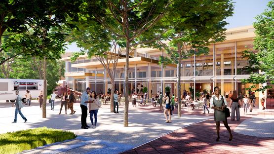 Student Center per la Johns Hopkins University di BIG, in legno e vetro