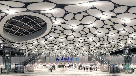 La stazione di Kaohsiung di Mecanoo in fase di completamento