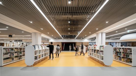 Struttura in acciaio per la biblioteca di Tainan di Mecanoo