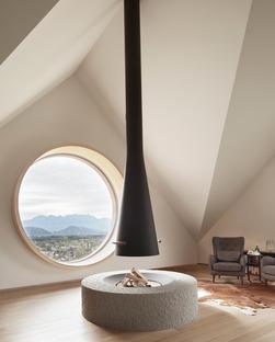 Casa in cemento e legno di Innauer Matt Architekten