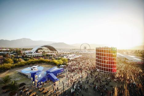 Facilitating access to temporary events Coachella Festival, MVRDV