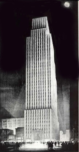 New York, Daily News, Tower Sketch, 1930, Hugh Ferriss