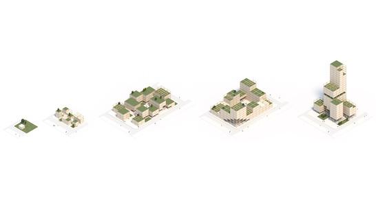EFFEKT, 'Urban Village Project' per SPACE10. Render, Cortesia di EFFEKT